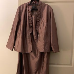 Bronze Evening Gown with Jacket